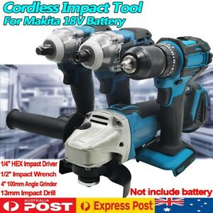 Cordless Tool Impact Driver Drill Wrench Grinder For Makita 18V Li-ion Battery