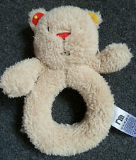 Mothercare Teddy Bear Ring Rattle Grabber