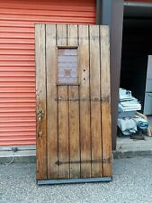 Exterior Vintage Wood Door Small Lead Glass Window Natural 40 X 83 We Ship!