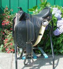 """New 20"""" Australian stock saddle by Sydney Saddleworks BLACK MEDIUM TREE"""