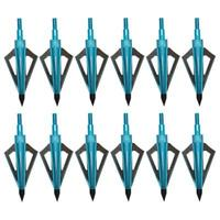 New 12pcs Broadheads 100Gr 3 Fixed Blade For Hunting Compound Bow Crossbow Tips