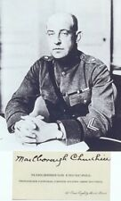 WW I U.S General Marlborough Churchill Established ''Black Chamber'' Autograph