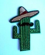 1x Mexican Cactus Patches Embroidered Patch Cloth Applique Badge Iron Sew On