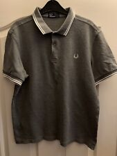 Genuine Men's Fred Perry Polo Large Worm Once Grey See Description