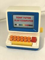Vintage 1985 Tomy Tutor Play Computer Keyboard Learning Toy Educational PC Toy