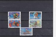 FRANCE 2007 MEILLEURS VOEUX 5 TIMBRES OBLITERES YT 140 A 144