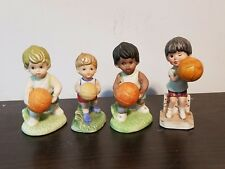 Vintage Porcelain Boy Basketball Players Set of 4