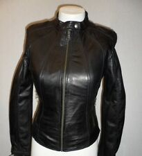 Women's Guess Leather Jacket Black