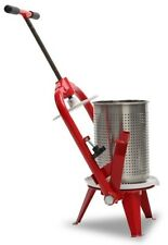 FRUIT PRESS 9L - Stainless Steel, Cider Wine Press, Apple Press, Fruit Crusher,