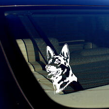 "German Shepherd Dog Decal WHITE 5""x3"" K9 Dog Vinyl Window Sticker Mod3323"
