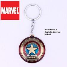 Captain America WW2 Shield The Avengers Movie Retro metal Key chain cosplay BRZ