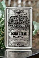 John Deere Plow Co. Credit Debit Business Card Cigarette Case - Farmer's Almanac
