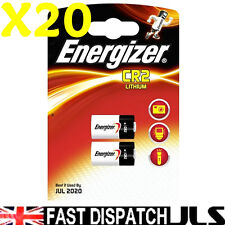 20 ENERGIZER LITHIUM CR2 ELCR2 DLCR2 Photo Batteries 3V