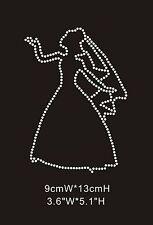 Bride Silhouette Diamante Rhinestone Crystal Iron On Transfers - £2.29 FREE P&P