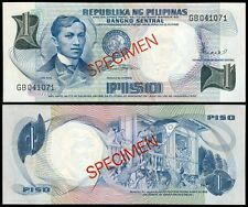 PILIPINO Series 1 Peso Philippine  Marcos - Licaros SPECIMEN Rizal Banknote
