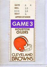 HOUSTON OILERS @ CLEVELAND BROWNS 1978 TICKET ROOKIE EARL CAMPBELL OZZIE NEWSOME
