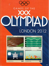 Liberia 2012 MNH GIOCHI OLIMPICI DI LONDRA 4v M / S TRACK campo Nuoto Olimpiadi Giochi