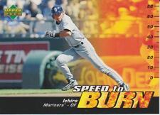 """Ichiro 2006 Upper Deck """"Speed To Burn"""" Card MARINERS"""