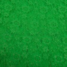 Lace fabric floral in solid colours Excellent quality fabric by the metre  NEW