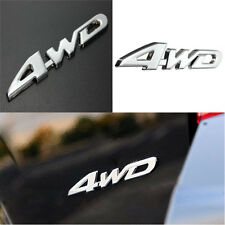 Car Chrome Metal 3D Adhesive 4WD Decal Emblem Badge Auto Sticker