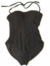 Catalina Slimming Design Womens One Piece Swim Bathing Suit Halter LARGE (12-14)