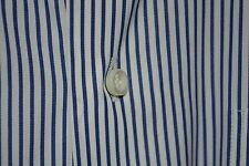 $425 MINT Ermenegildo Zegna White Bold Blue Striped Dress Shirt 17.5 38