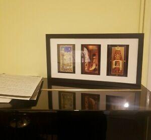 Framed Masonic Tracing Boards. Freemason Gift. Black Frame