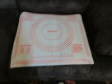 Tupperware 1977 Pastry Mat cut out cookies pie dough baking sheet thing tool sum