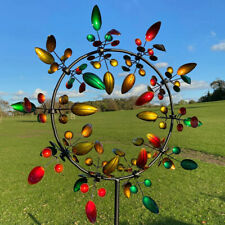 Unique and Magical Color Metal Windmill Sculptures Move with The Wind Lawn DecYH
