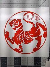"shotokan karate martial arts belts karate uniform vinyl cut decal 6"" yellow new"