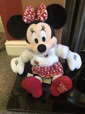"""En muy buena condición Medio De Tienda Disney Minnie Mouse Navidad Plush 2015 16"""" Etiquetado Excelente"""