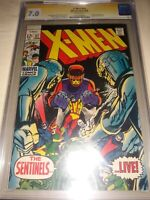 X-Men #57 ( 1969) CGC 7.0 SS by Neal Adams ( Cover & Art ) Sentinels Appearance