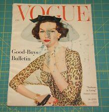 June Vogue 1957 Rare Vintage Vanity Fair Fashion Design Collection Magazine