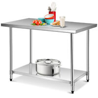 "30"" x 48"" Stainless Steel Food Prep & Work Table Commercial Kitchen Worktable"