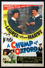 A CHUMP AT OXFORD STAN LAUREL OLIVER HARDY R-1946 1-SHEET