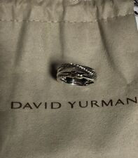 David Yurman Sterling and 18k gold Crossover X Ring size 7