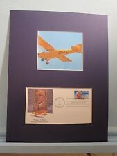 The Piper Cub Airplane & First Day Cover of the stamp for designer William Piper
