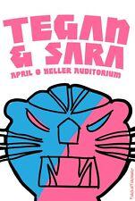 TEGAN & SARA 2013 PORTLAND CONCERT TOUR POSTER - Indie Pop/Folk/Rock Music