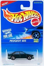 Hot Wheels #467 Peugeot 405 Green 5SP's 15977 New On Card 1996