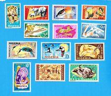 NIGERIA  - Scott  184-197, less #  190 - VFMNH - Animals & Birds - 1965-1966