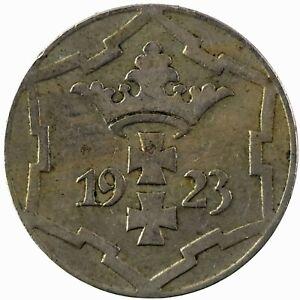 Poland: Danzig-Free City 1923 10 Pfennig. KM#143