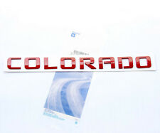 1x OEM Red COLORADO Nameplate Letter Emblem badge for COLORADO Chevrolet TE 4 YU