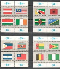 Un 374-389 Complete Flag Set Of 16 W/Tabs Mint/nh (Free Shipping)