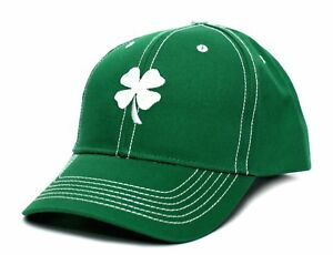 New LUCKY Irish Shamrock St Patricks Day Clover Leaf Green Adult Curved Hat 3/17