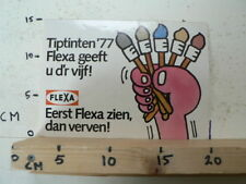 STICKER,DECAL FLEXA TIPTINTEN 77 GEEFT U D'R VIJF VERVEN LARGE