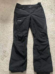 Patagonia Women's M Powder Bowl Gore-Tex Ski/Snowboard Pants - Never Worn Black