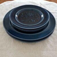 Vintage Metlox Poppytrail SAN CLEMENTE-LAGUNA BLUE Dinner & Salad Plates 3 Sets