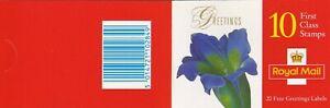 GBB383A) GB KX9 1997, 1st Class Booklet, Flowers, MUH