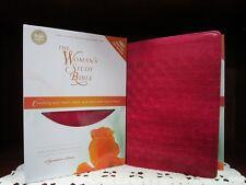 ** NIV Woman's Study Bible - Rich Rose Leathersoft *Thomas Nelson 2014* NEW #562