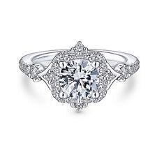1.15 Carat New Design Diamond Engagement Bridal Ring 18K White Gold Size 5 6 7 8
